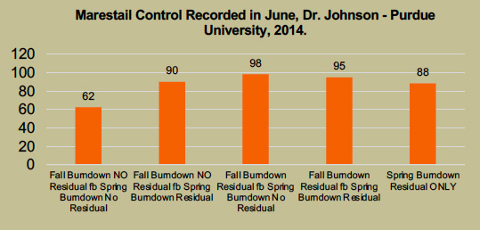 Marestail Control With Burdown Programs